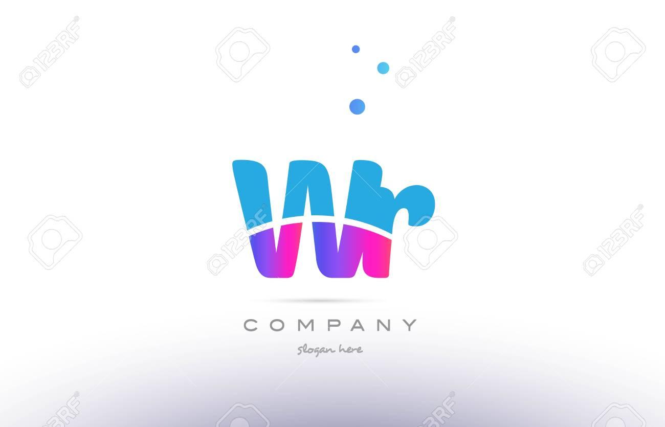 Wr Wr Rose Violet Bleu Blanc Majuscule Minuscule Moderne Créatif Alphabet  Gradient Société Lettre Logo Design D'icône Vecteur Modèle dedans Modele Alphabet Majuscule