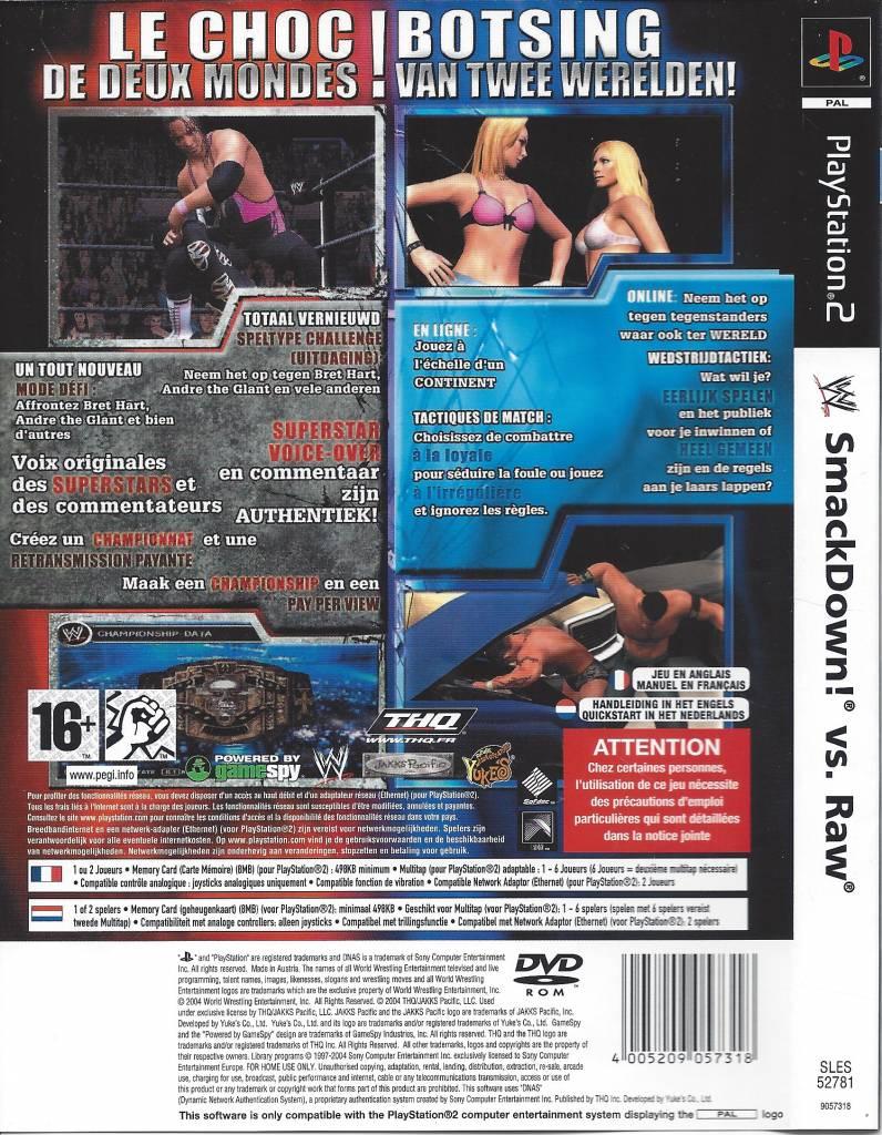 Wwe Smackdown Vs Raw For Playstation 2 Ps 2 - Passion For destiné Jeu Memory En Ligne