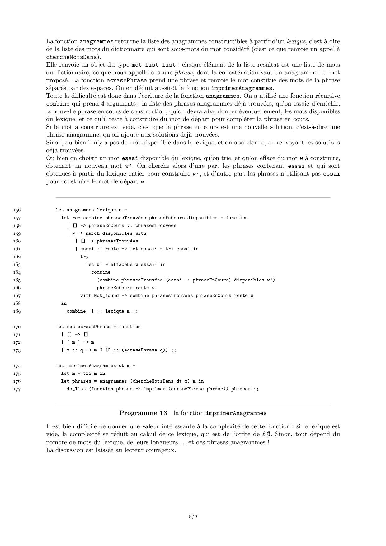 X-Ens Rmatique 2006 Mp Option  Corrigé - Alloschool avec Anagrammes À Imprimer