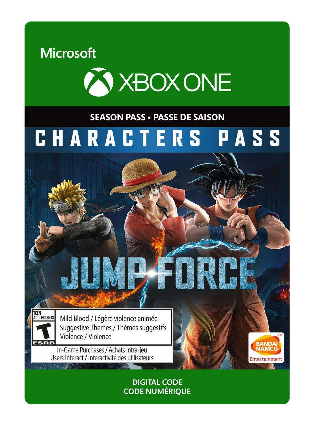 Xbox One Jump Force: Characters Pass [Download] destiné Jeu Force 4