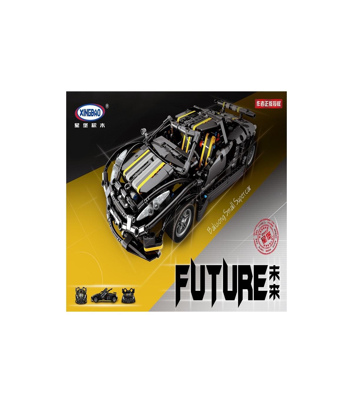 Xingbao 07002 Futur Bâtiment De Briques Set dedans Jeux De Petite Voiture