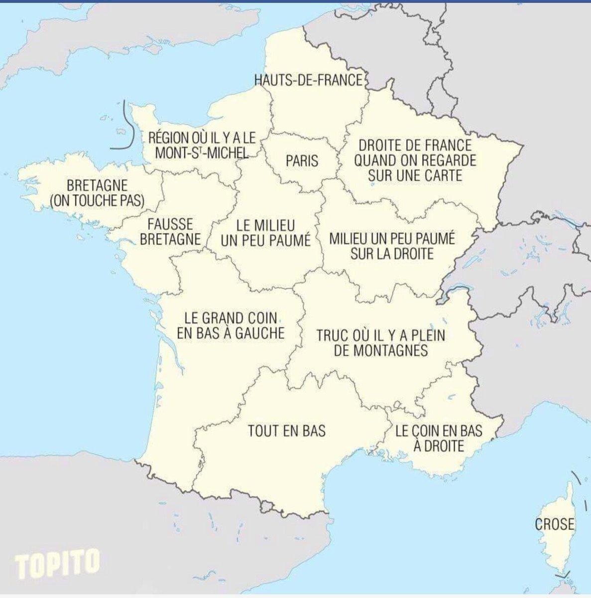 """Yamia On Twitter: """"les Regions Françaises Selon Hollande Et destiné Carte Des Régions De France 2016"""