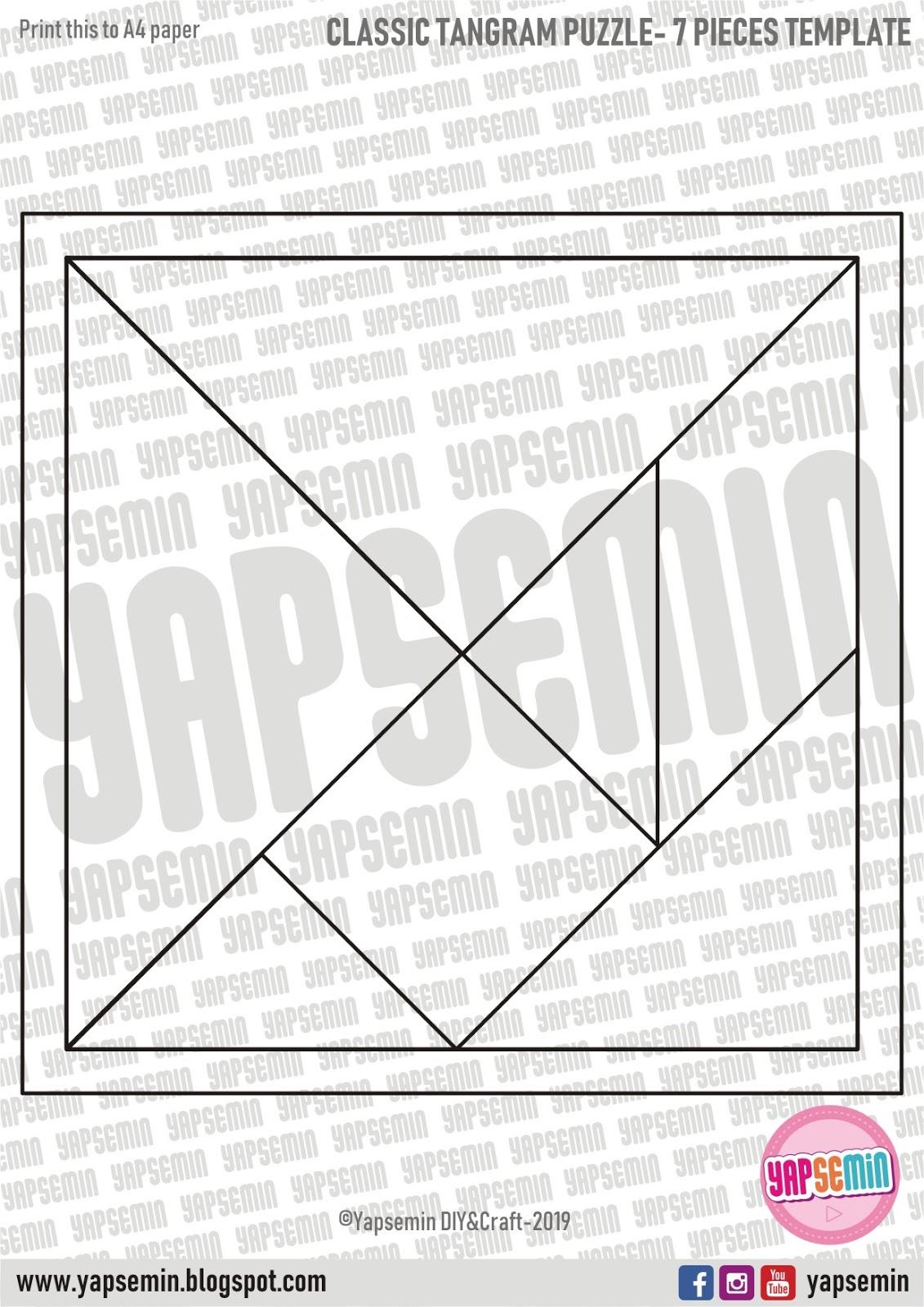 Yapsemin | Diy | Craft - Templates: Klasik Tangram Puzzle intérieur Pièces Tangram