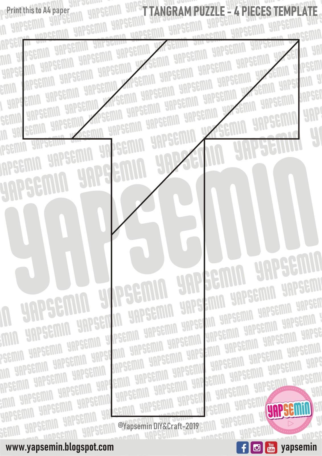 Yapsemin | Diy | Craft - Templates: T Tangram Puzzle dedans Pièces Tangram