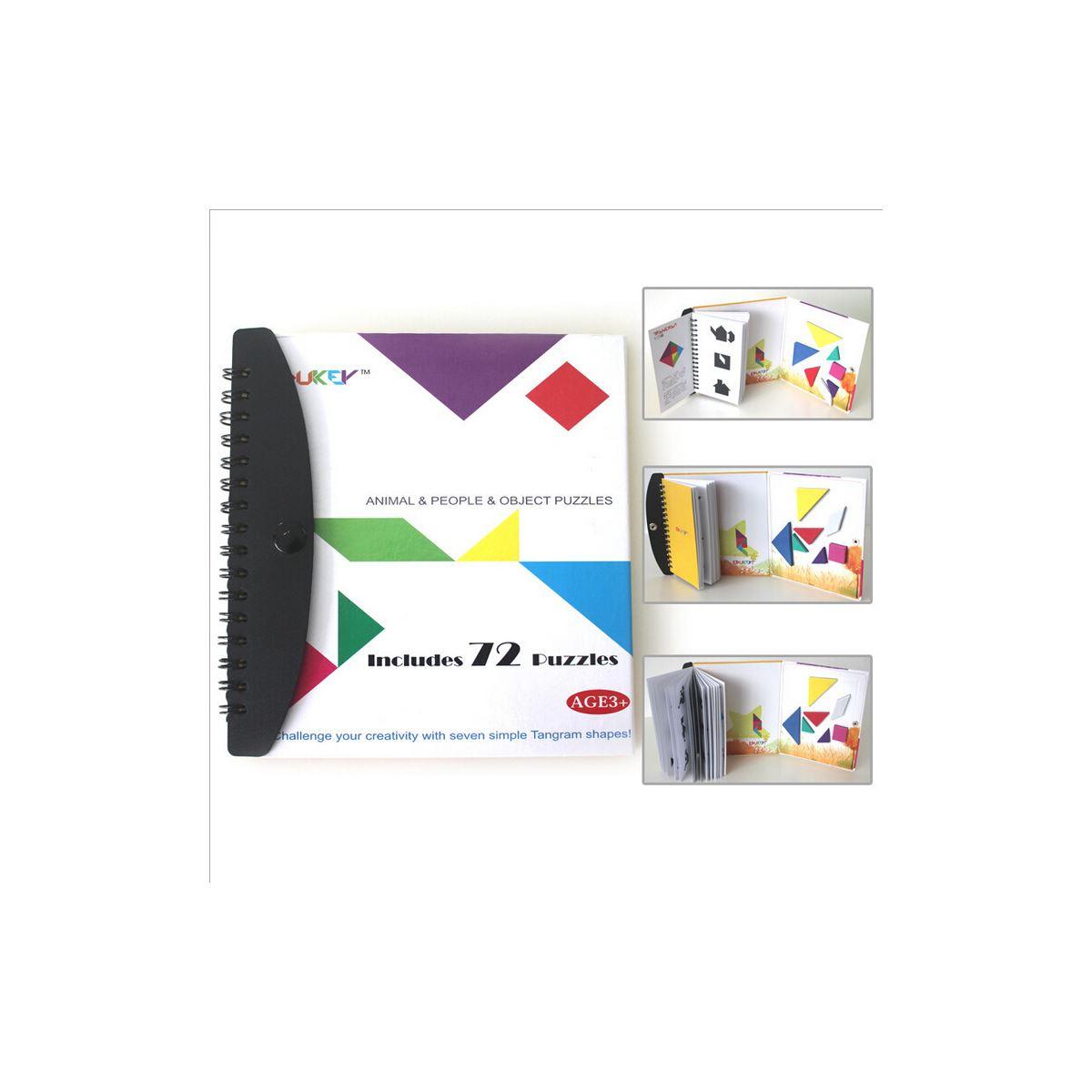 Yetenek Geliştiren Ürünler Diy Toy 6950139280009 Edukey Manyetik Şekiller  Eşleştirme Kitabı (Mental Gelişim Destek) Tangram Puzzle Aynı Gün Kargo dedans Tangram Simple