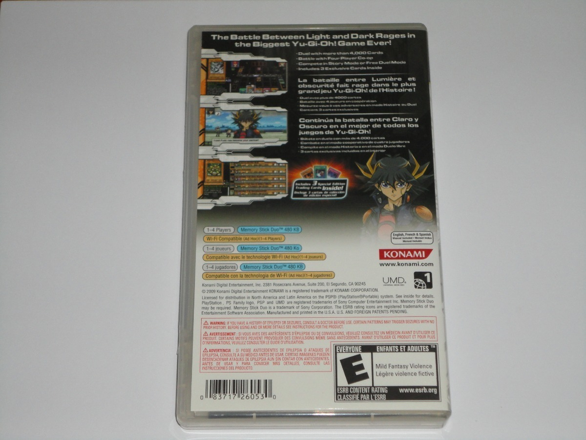 Yu-Gi-Oh! Tag Force 4 Para Psp C/envío Por Dhl Gratis!!! - $ 1,200.00 encequiconcerne Jeu Force 4