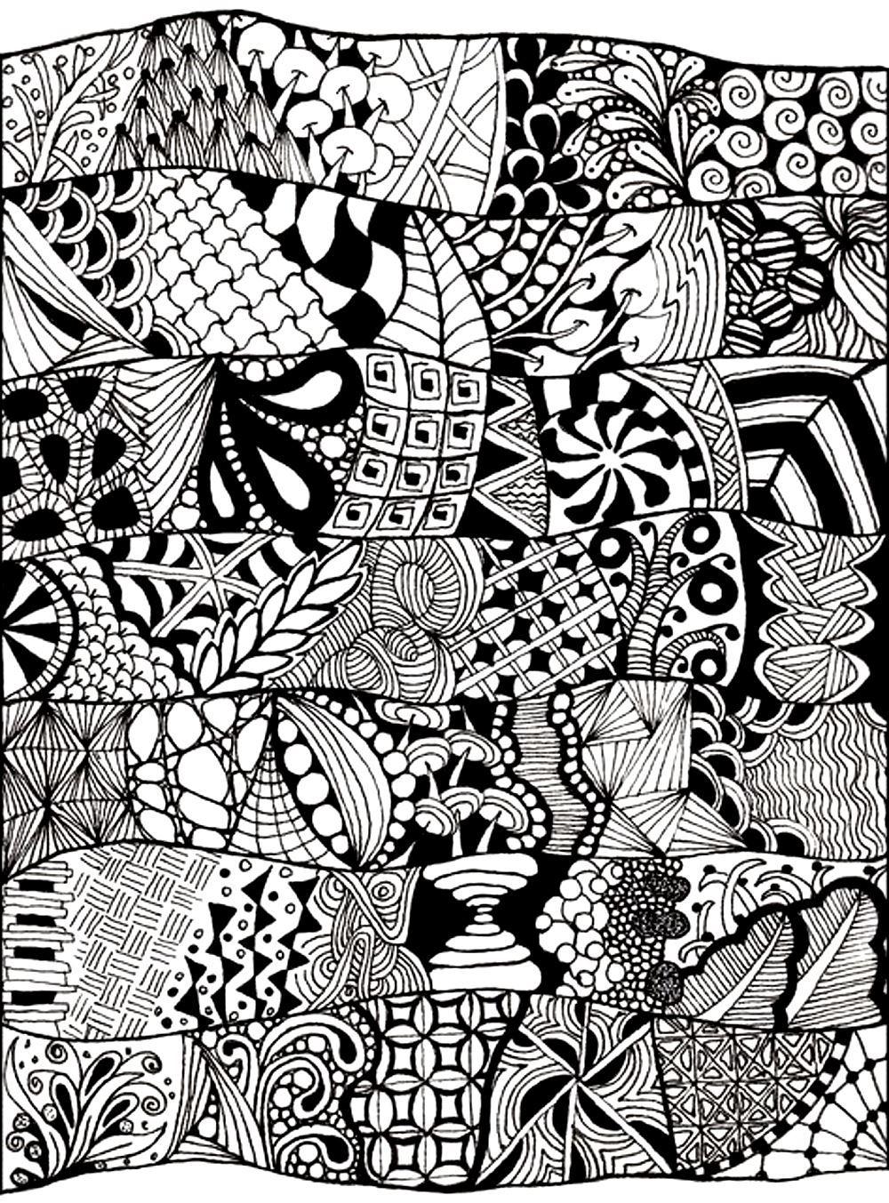 Zen Anti Stress Abstract To Print - Anti Stress Adult dedans Image Zen A Imprimer