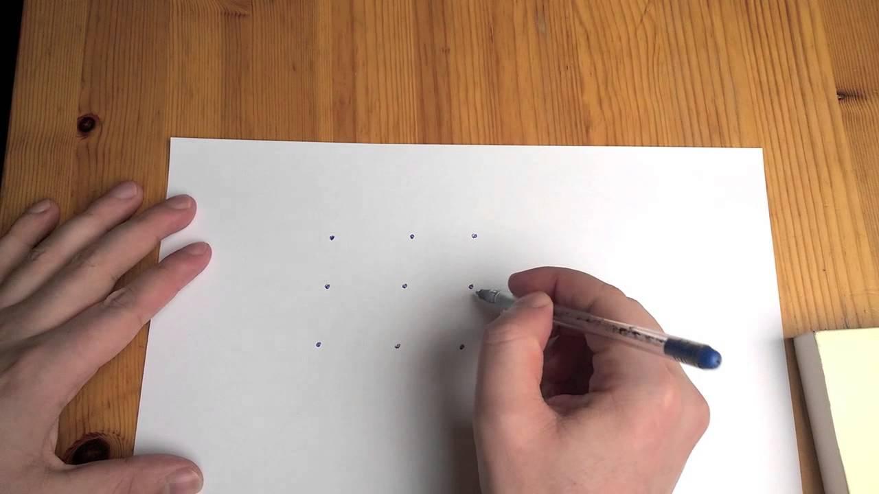 #03 Comment Relier 9 Points En 4 Lignes - Pas Si Bête destiné Jeu Relier Les Points En Ligne