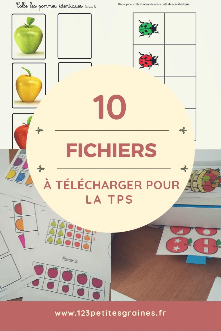 10 Fichiers Téléchargeables Gratuitement Pour La Tps | Jeux concernant Activités Éducatives Pour Les 0 2 Ans