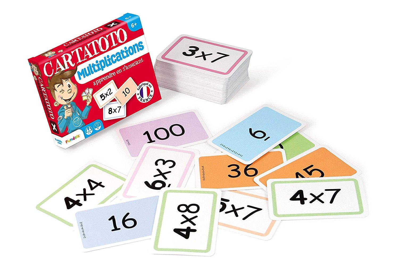 10 Jeux De Cartes En Une Seule Boite Pour Apprendre Les tout Apprendre Les Tables De Multiplication En S Amusant