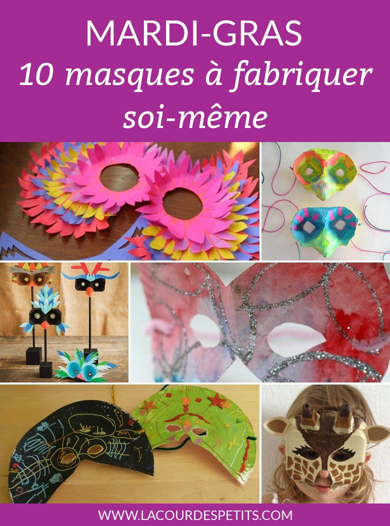 10 Masques De Carnaval À Fabriquer  La Cour Des Petits dedans Masque Maternelle