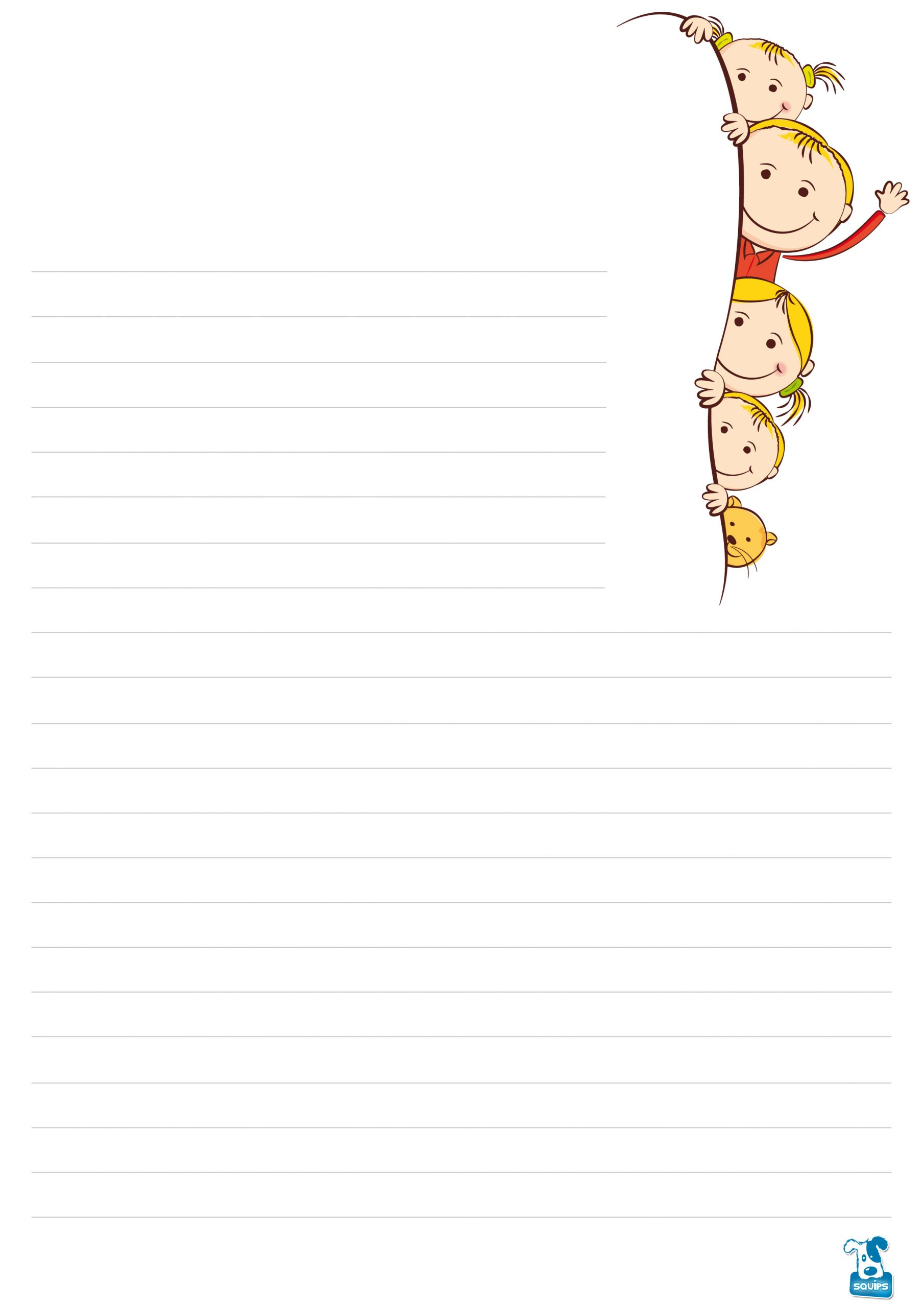 10 Papiers À Lettre À Imprimer Pour Enfants | 123Cartes dedans Papier À Lettre Gratuit À Imprimer