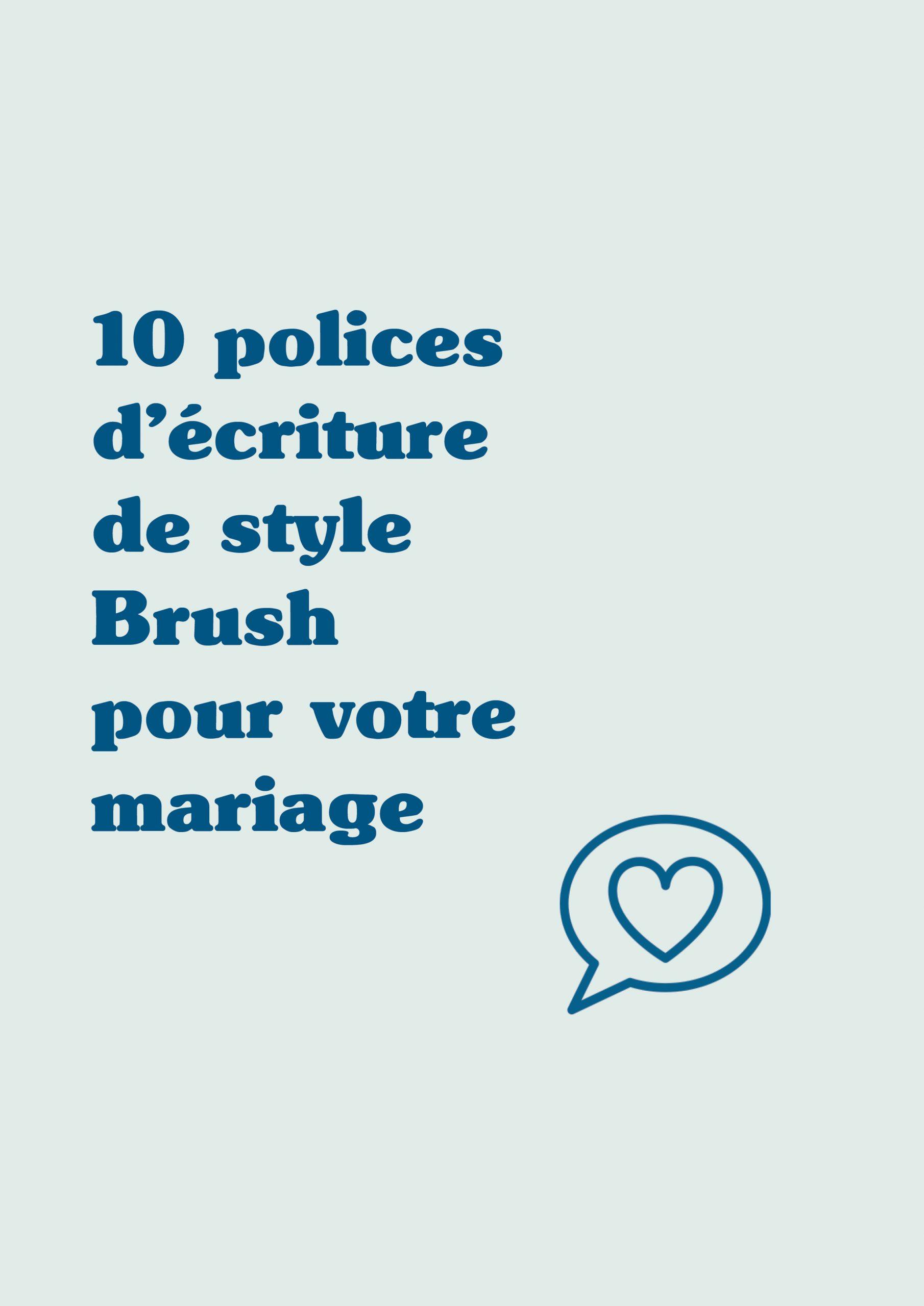 10 Polices D'écriture Pour Mariage Style Brush - Le Blog De à Ecriture De Noel A Imprimer