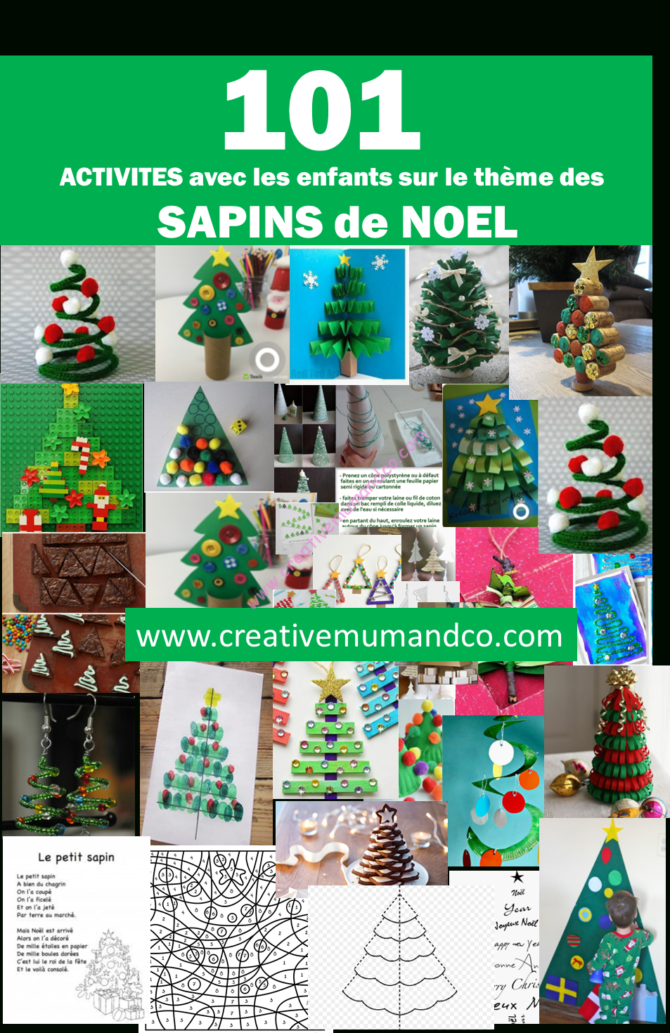 101 Idées D'activités Sur Le Thème Des Sapins ! - concernant Activités Manuelles Enfants Noel