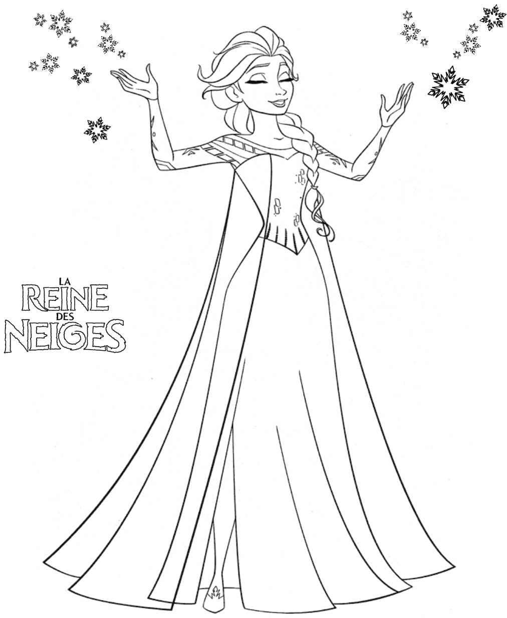 114 Dessins De Coloriage Reine Des Neiges À Imprimer serapportantà Reine Des Neiges Dessin À Colorier