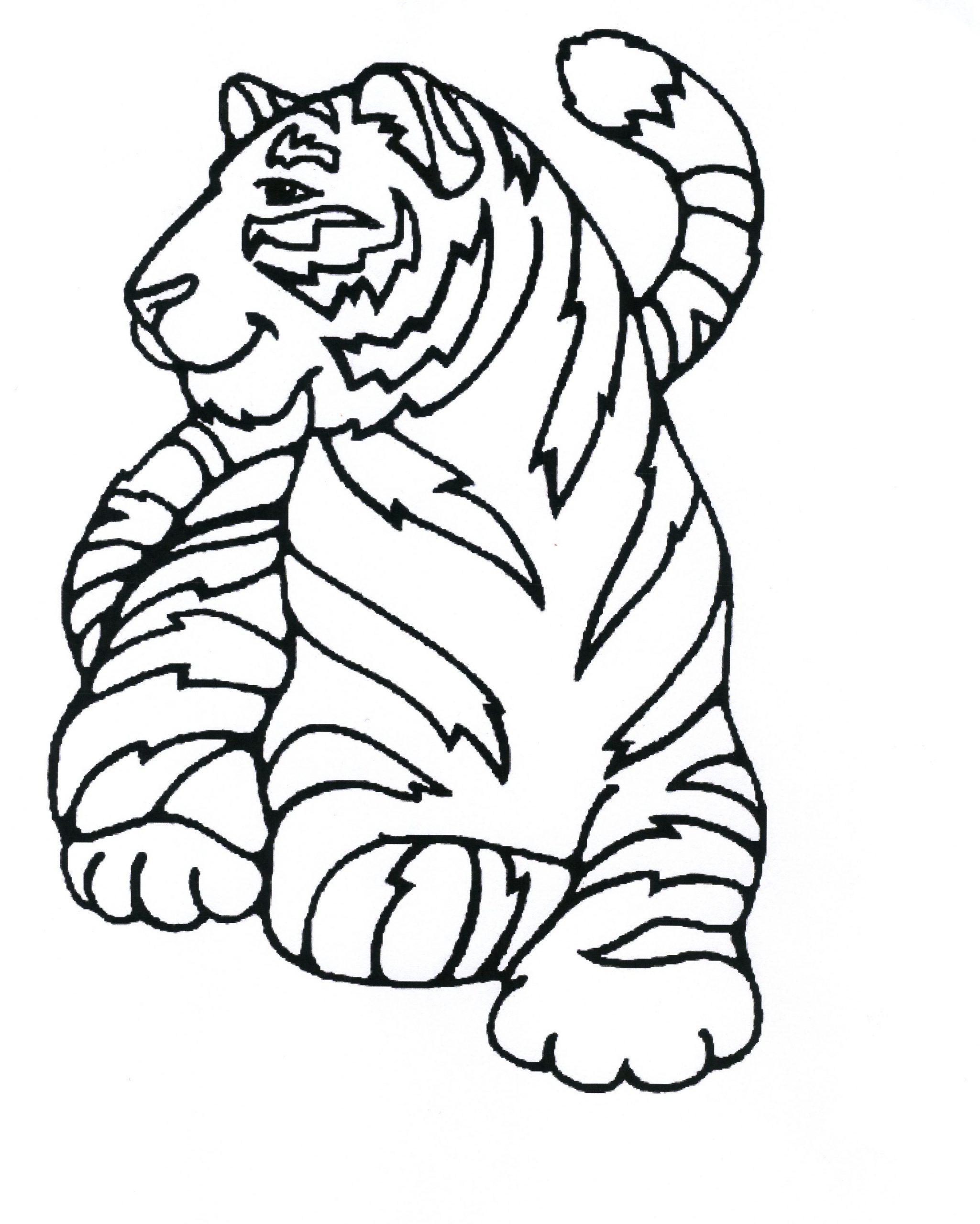 115 Dessins De Coloriage Tigre À Imprimer dedans Coloriage Bébé Tigre