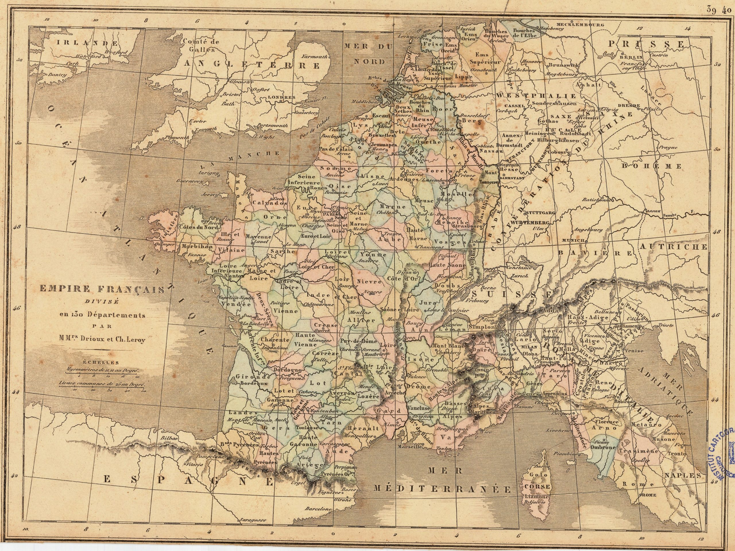 130 Departments Of The First French Empire - Wikipedia intérieur Departement Francais 39