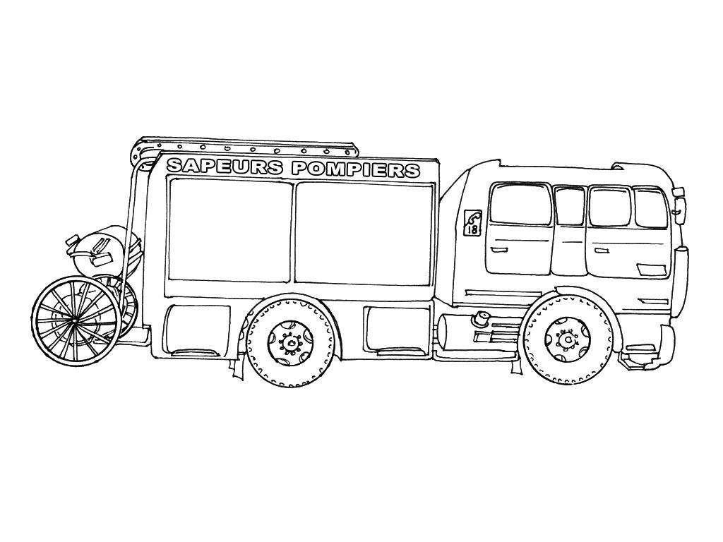 14 Dessins De Coloriage Camion Pompier À Imprimer à Coloriage Camion De Pompier Gratuit À Imprimer