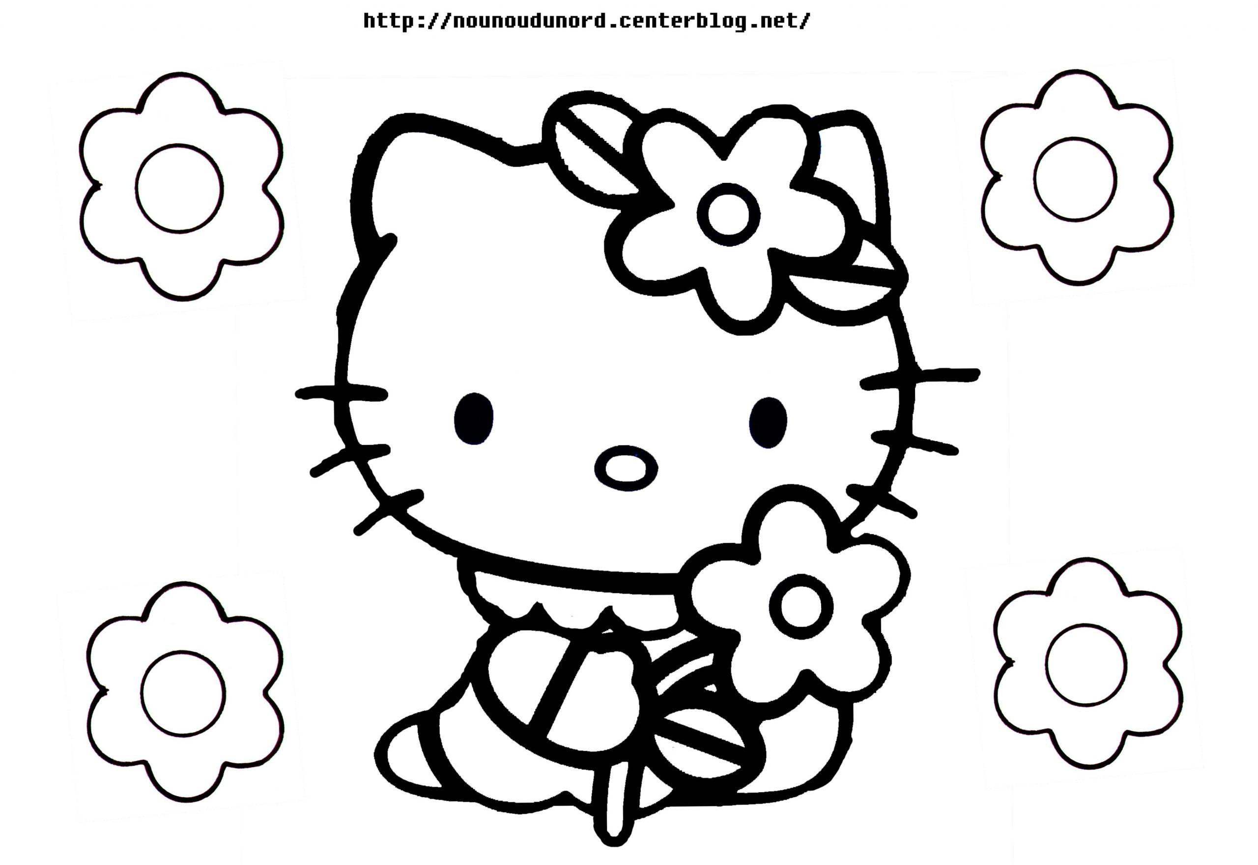 143 Dessins De Coloriage Hello Kitty À Imprimer avec Coloriage Pour 3 Ans À Imprimer