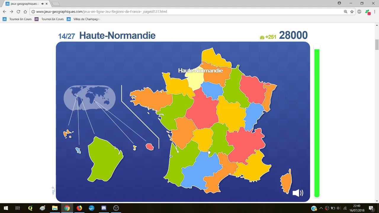 168 667 : Régions De France Avant 2016 (Ottawa) intérieur Jeu Sur Les Régions De France