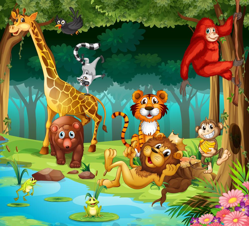 18 Coloriages D'animaux De La Jungle encequiconcerne Photo De Lion A Imprimer En Couleur