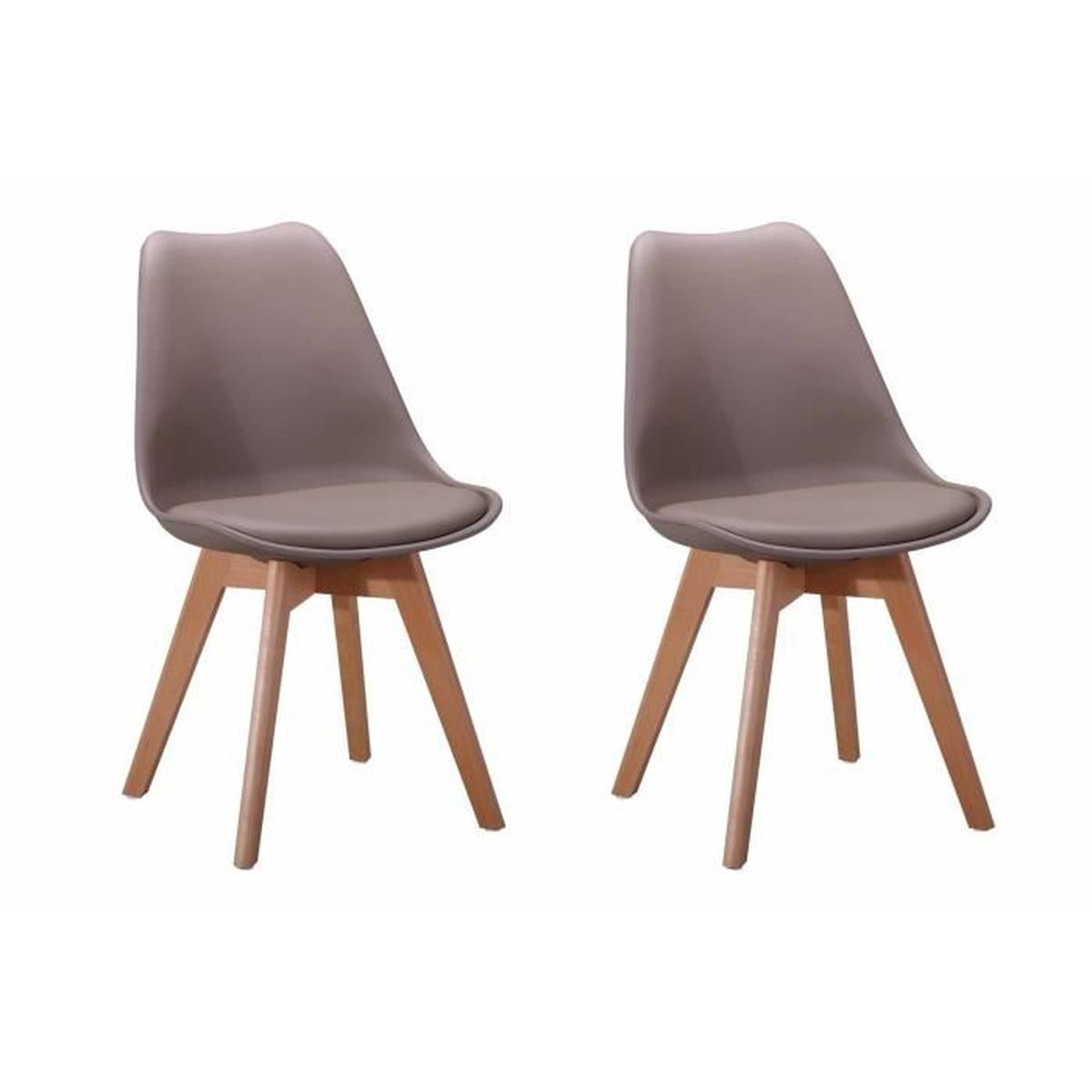2 Chaises Andromeda, Couleur: Taupe - Achat / Vente Chaise encequiconcerne Code Couleur Taupe