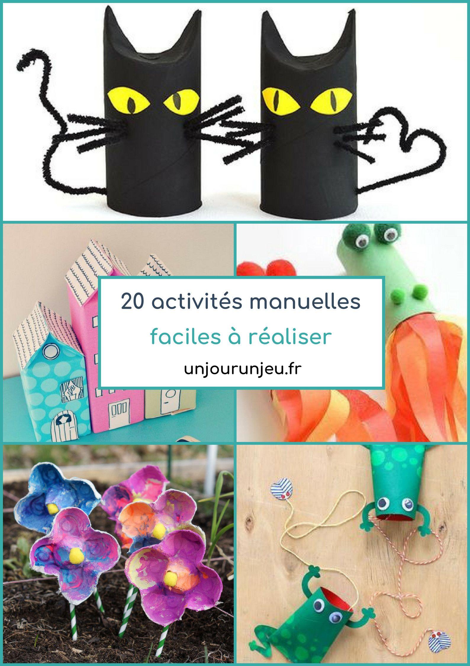 20 Activités Manuelles Faciles À Réaliser Pour Enfants En avec Activité Manuelle Facile Faire
