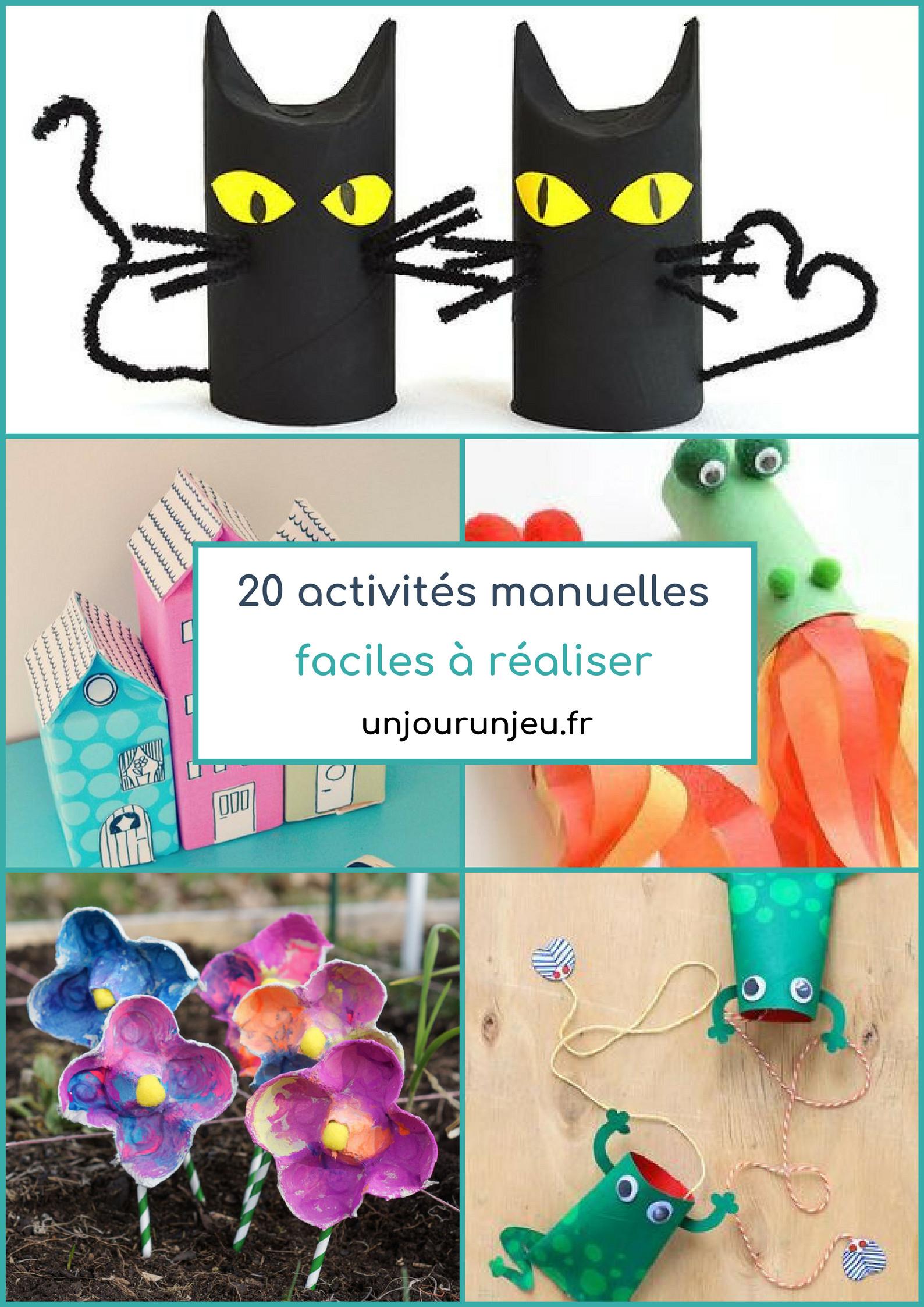 20 Activités Manuelles Faciles À Réaliser Pour Enfants En pour Activité Simple A Faire