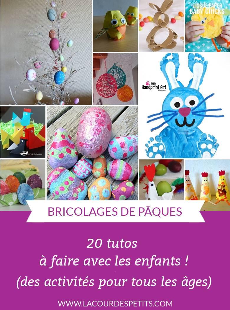 20 Bricolages De Pâques (Pour Petits Et Grands) |La Cour Des serapportantà Activité Manuelle Enfant 3 Ans