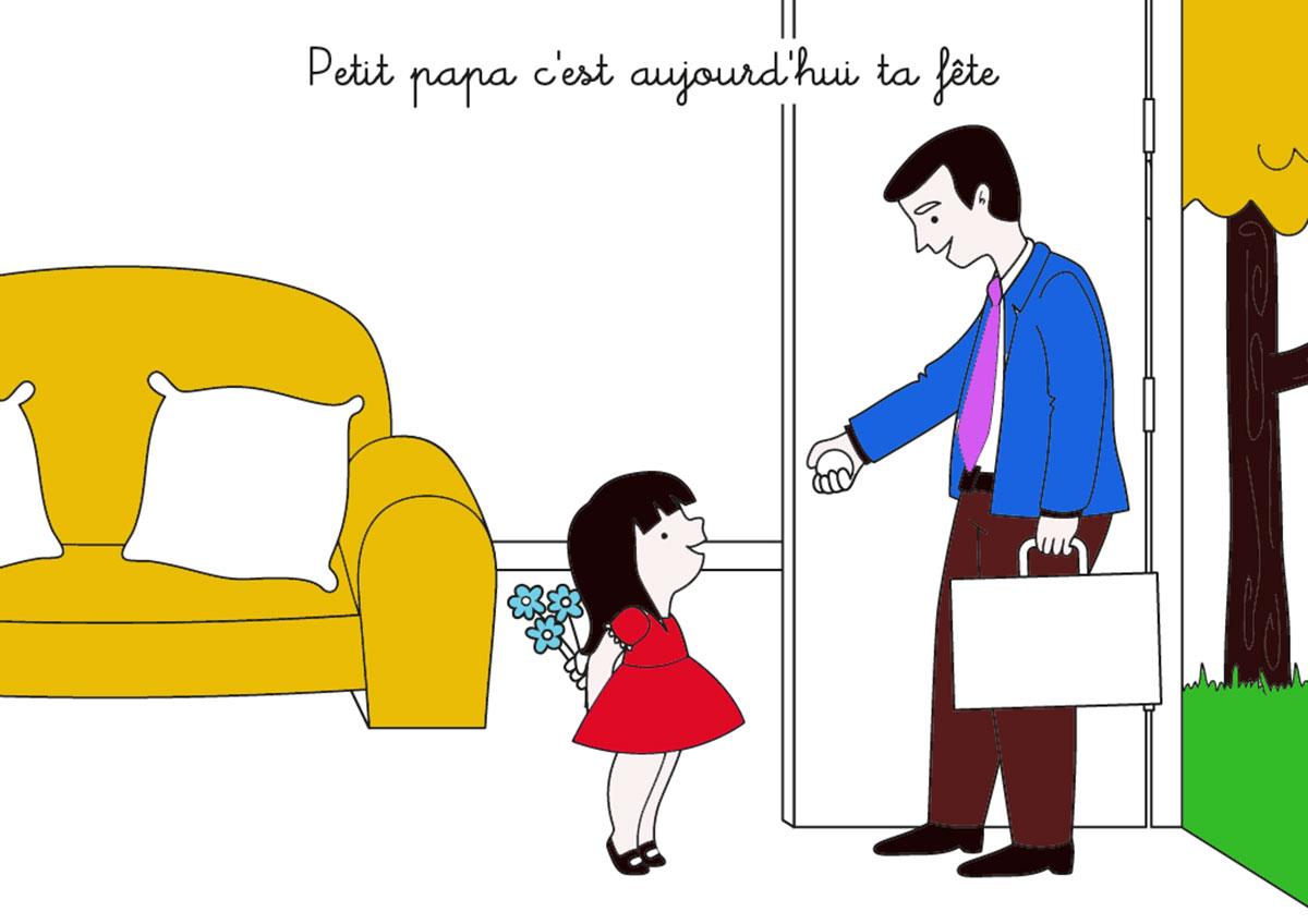 20 Coloriages Pour La Fête Des Pères avec Coloriage Fete Des Peres A Imprimer Gratuit