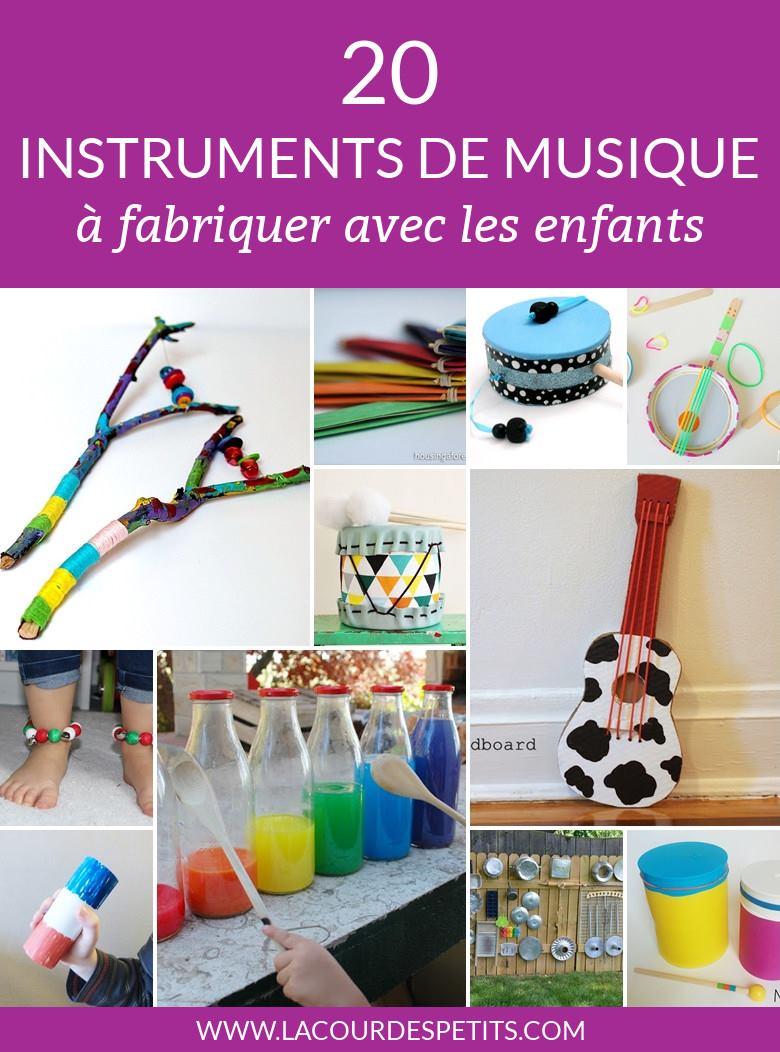 20 Instruments De Musique À Fabriquer Avec Les Enfants |La à Activité Musicale Maternelle