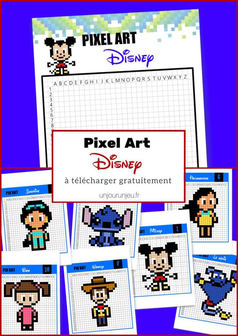 20 Modèles De Pixel Art Disney À Télécharger Gratuitement encequiconcerne Jeux Facile A Telecharger