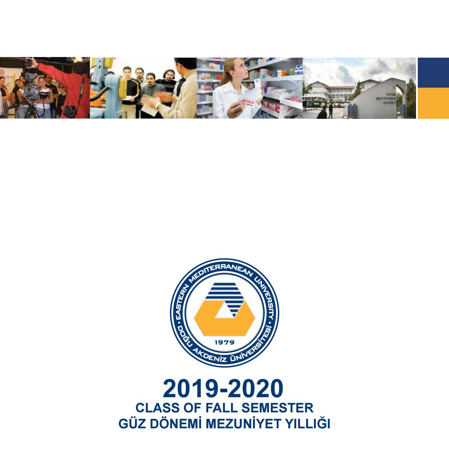 2019-20 Güz Dönemi Mezuniyet Yıllığı-Taslak/ Class Of Fall tout Departement 22 Region