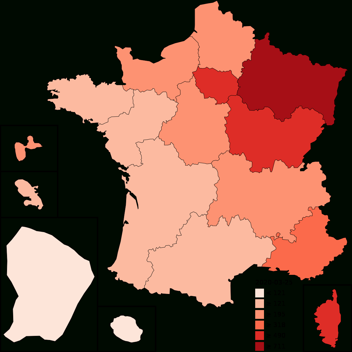 2020 Coronavirus Pandemic In France - Wikipedia intérieur Departement Francais 39
