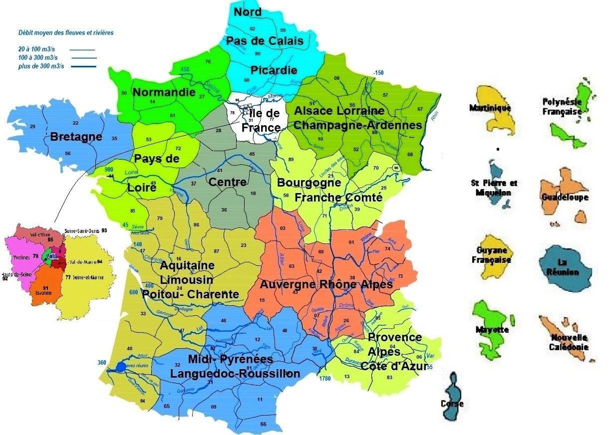22 Régions pour Le Nouveau Découpage Des Régions