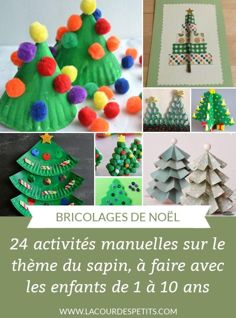 24 Activités Manuelles De Noël Autour Du Sapin | Activité avec Activités Manuelles Enfants Noel