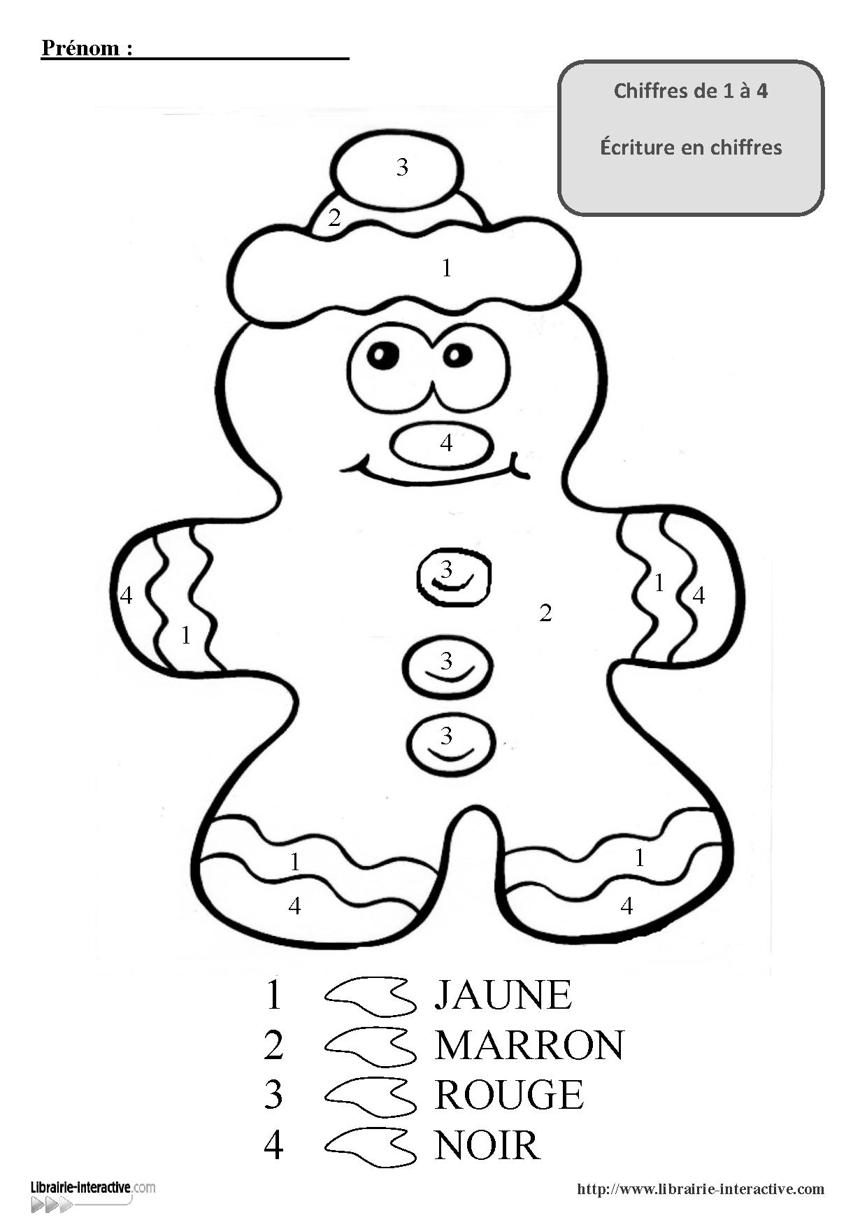 3 Coloriages Magiques Pour Les Maternelles, Pour La Venue De concernant Coloriage Codé Noel