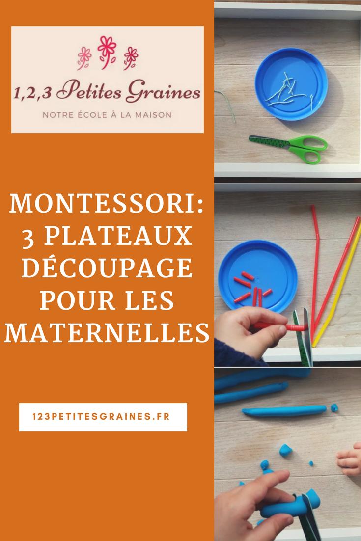 3 Plateaux Découpage Pour Maternelles - 1,2,3 Petites Graines tout Atelier Découpage Maternelle
