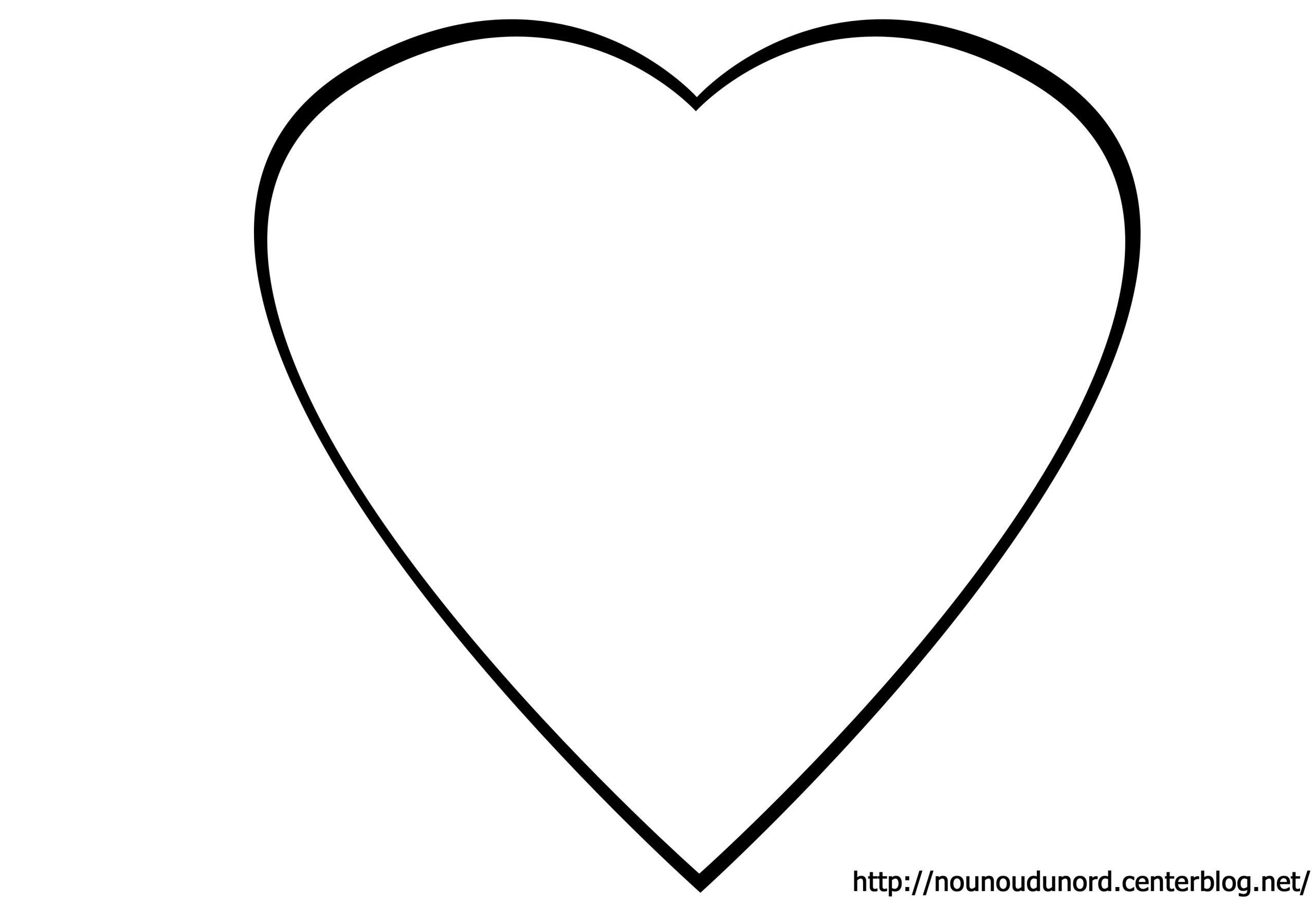 38 Dessins De Coloriage Coeur À Imprimer encequiconcerne Coeur A Imprimer Et Decouper