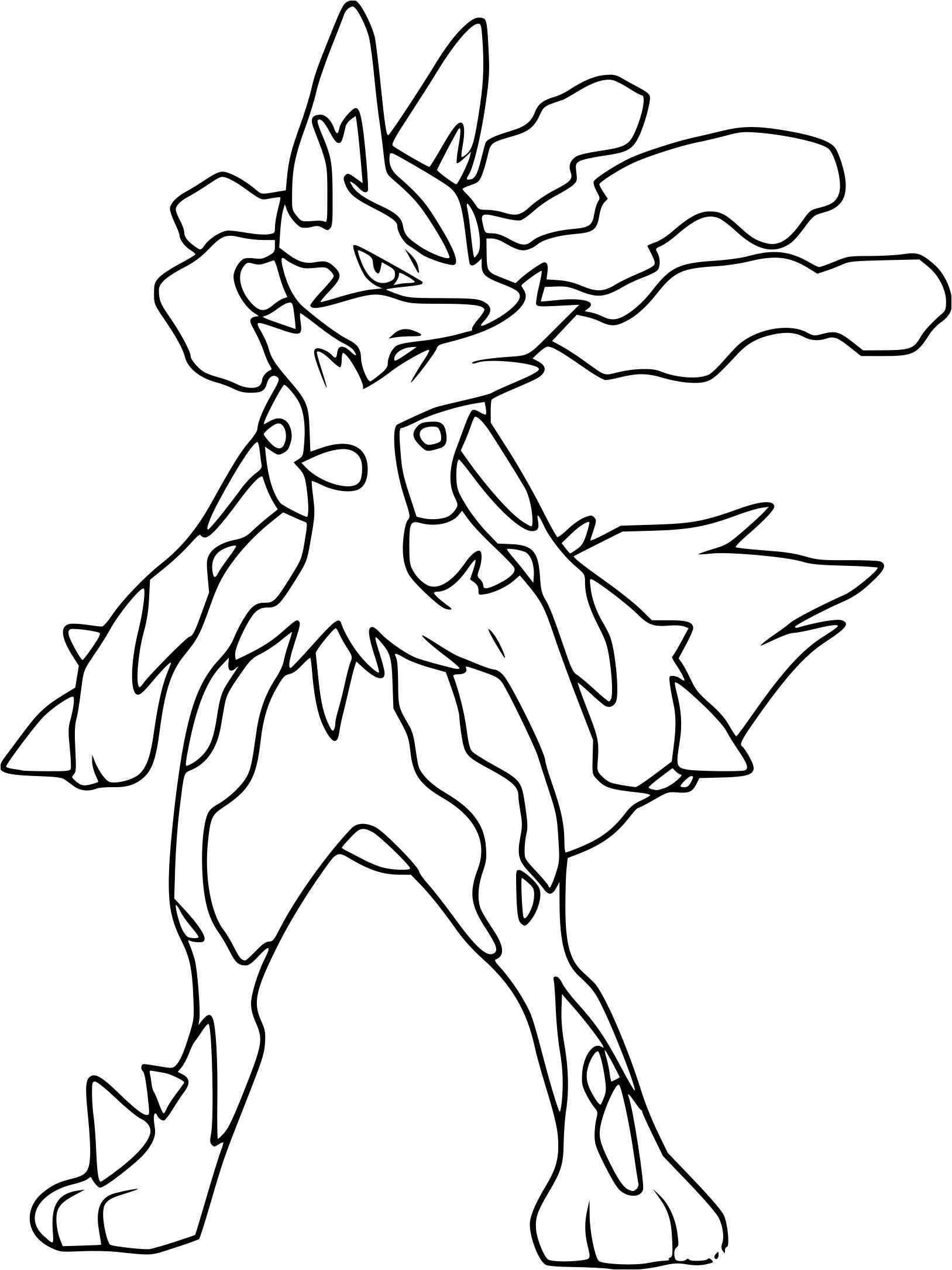 39 Dessins De Coloriage Pokemon Mega Evolution À Imprimer avec Dessin À Peindre À Imprimer Gratuit