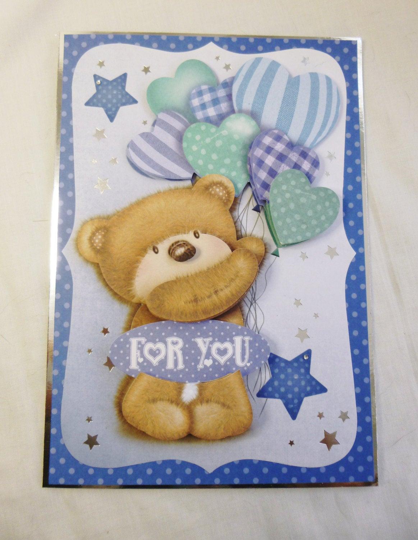 3D Decoupage Birthday Card, Greeting Card, Teddy Bear concernant Découpage Cp