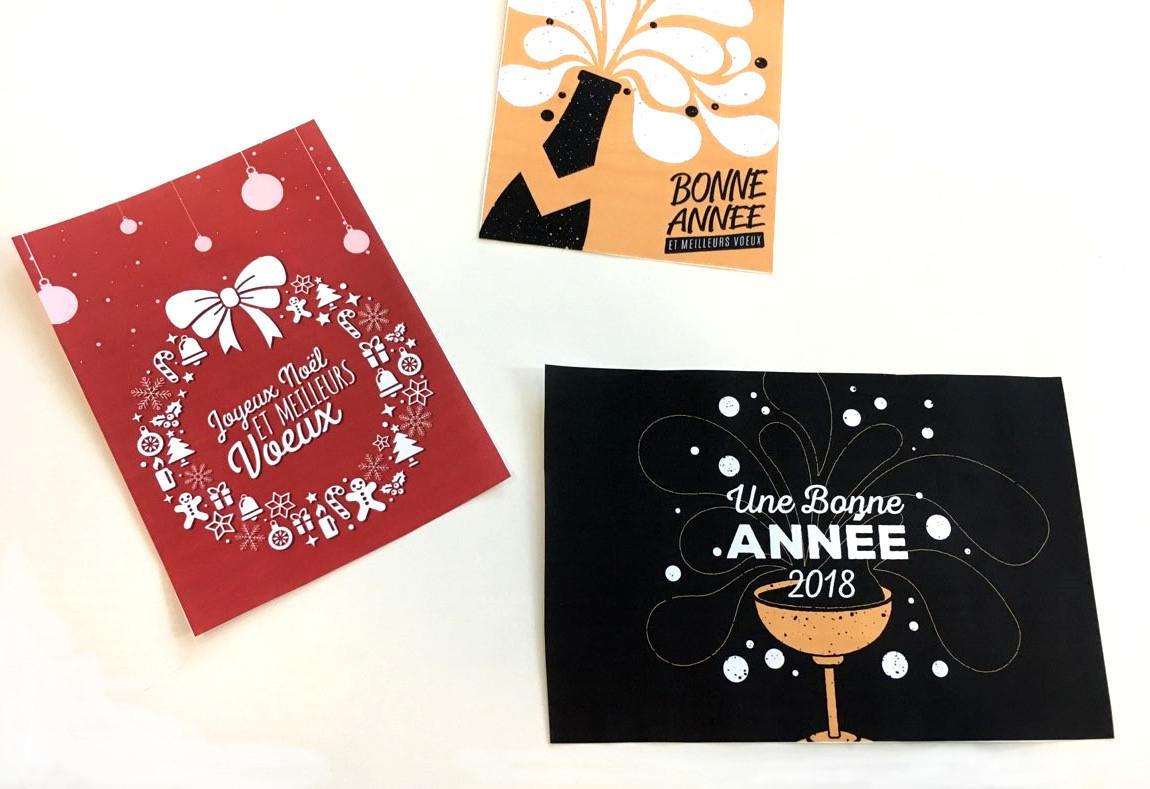 4 Cartes De Voeux À Imprimer - On Adore | Blog La Foir'fouille destiné Carte De Bonne Année Gratuite A Imprimer