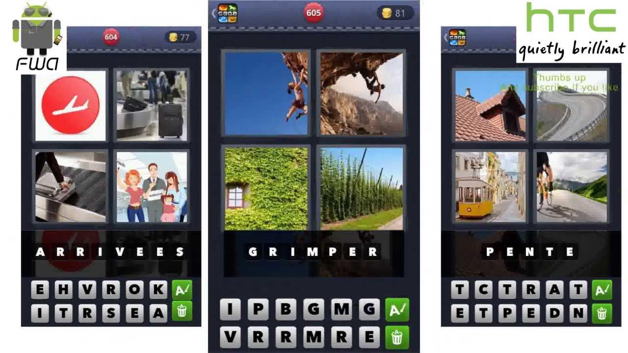 4 Images 1 Mot Niveaux 495 À 525 - Apple & Android - Solutions Facile Et  Rapide avec Jeux Quatre Image Pour Un Mot