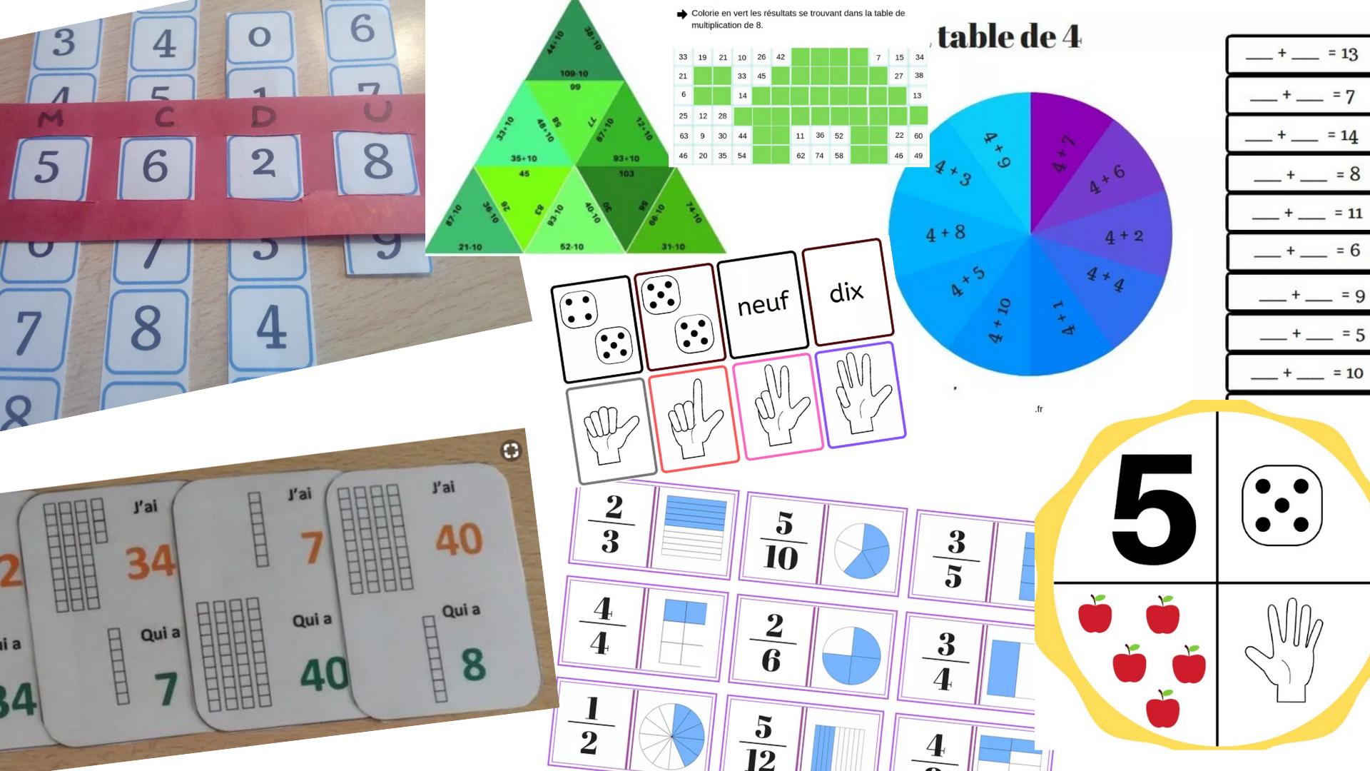 40 Jeux Pédagogiques En Mathématiques Classés Du Cp Au Cm2 à Jeux Pour Apprendre Les Chiffres En Francais
