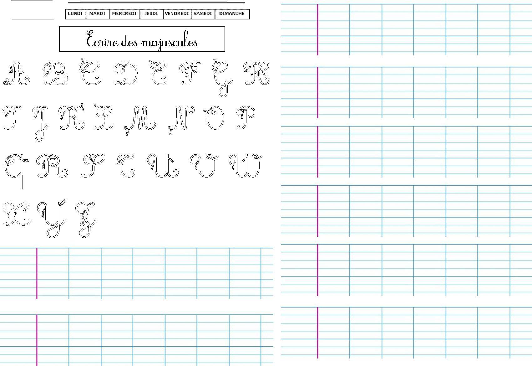 47 Fiches D'écriture, Dictées Muettes, Légendes À Écrire intérieur Feuille Écriture Cp À Imprimer