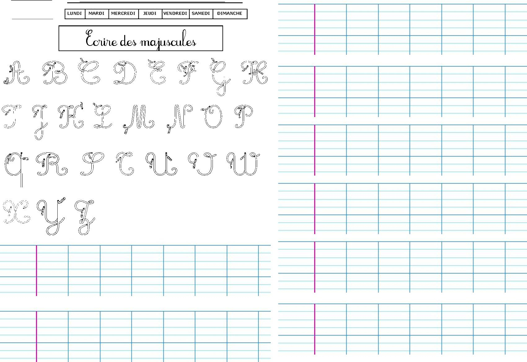 47 Fiches D'écriture, Dictées Muettes, Légendes À Écrire tout Lettres En Pointillés À Imprimer
