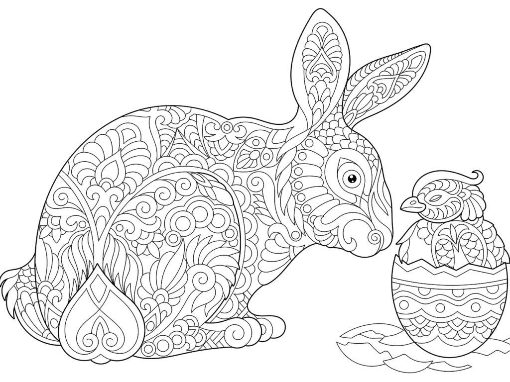 5 Beaux Coloriages De Pâques Pour Enfants & Adultes • • à Coloriage En Ligne Difficile