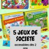 5 Jeux De Société Accessibles Dès 2 Ans - Mel Et Ses Twinous dedans Jeux De Societe Enfant 5 Ans