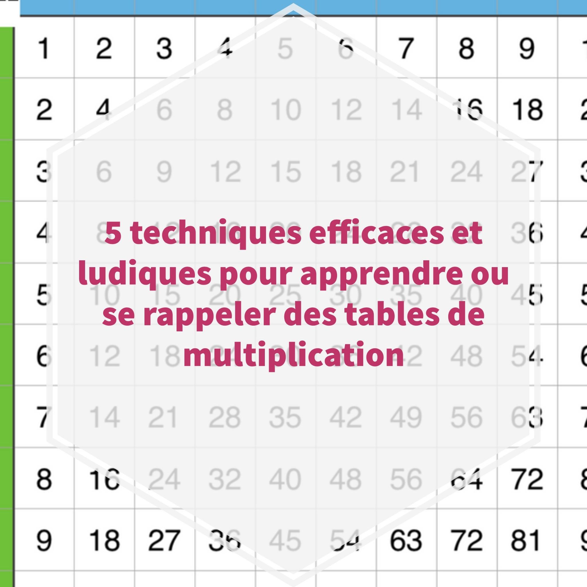 5 Techniques Efficaces Et Ludiques Pour Apprendre Ou Se avec Apprendre Les Tables De Multiplication En S Amusant