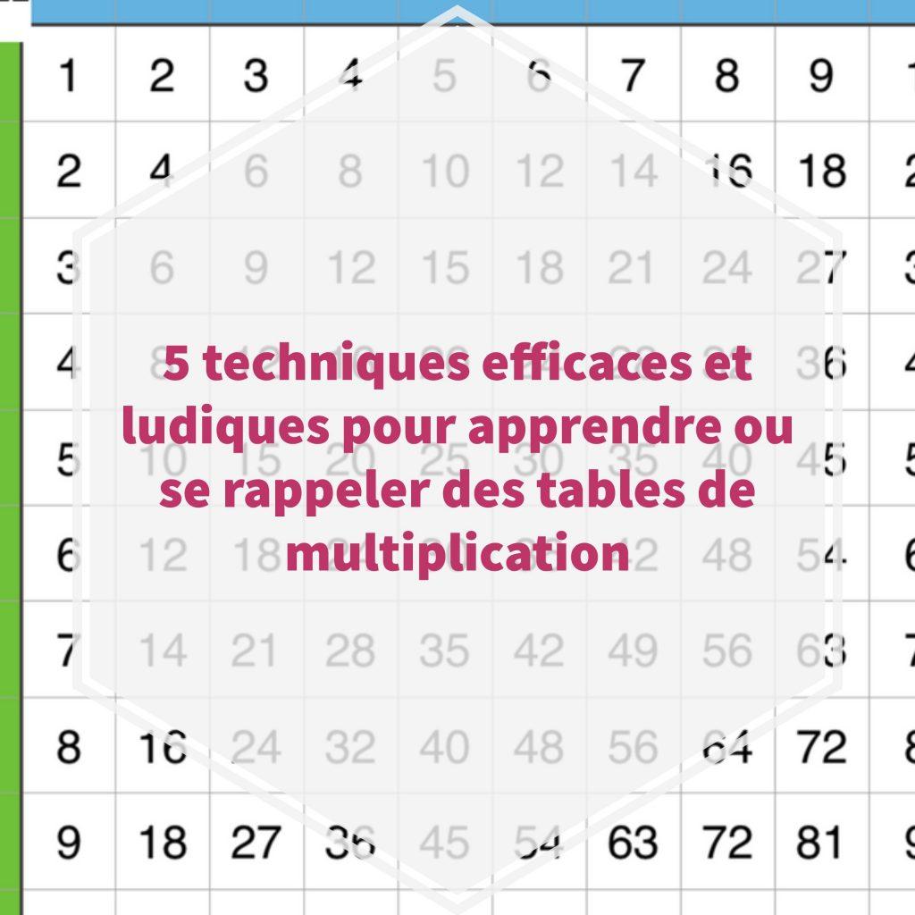 5 Techniques Efficaces Et Ludiques Pour Apprendre Ou Se serapportantà Tables Multiplication À Imprimer